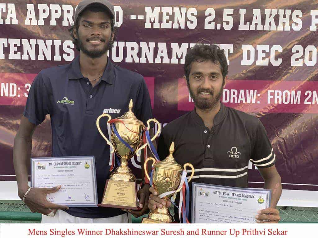 MPTA Mens 2.5 Lakh Tournament at Krishnan Tennis Centre