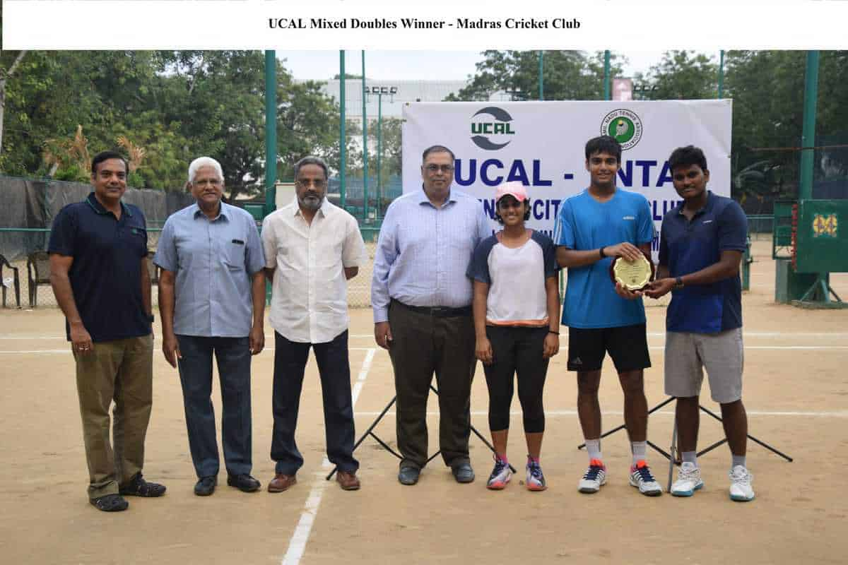 UCAL-TNTA CHENNAI INTER-CLUB MIXED DOUBLES LEAGUE-CUM-KNOCKOUT CHAMPIONSHIP 2019-2020-  Mixed Doubles Winner – Madras Cricket Club